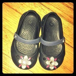 CROCS Shoes - Navy Mary Jane Flats